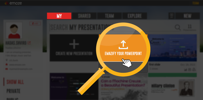 emaze create share amazing presentations websites and more